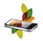 Floral design smartphone mobile Stock Image
