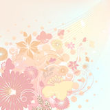 Floral design soft colors Stock Photo