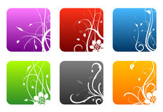 Floral design squares Royalty Free Stock Photo