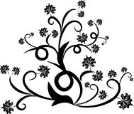 Floral design tattoo. Floral swirl revival design tattoo Royalty Free Stock Photography