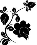 Floral design tattoo Stock Photography