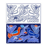 Floral design with two doves. Abstract floral design with two doves Royalty Free Stock Photo