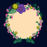 Floral design variations for cards, posters, invitations. Stock Photo
