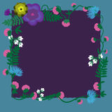 Floral design variations for cards, posters, invitations. Royalty Free Stock Photo