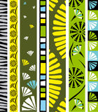Floral design vector border Royalty Free Stock Images