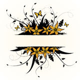 Floral design. Vector illustration Royalty Free Stock Image