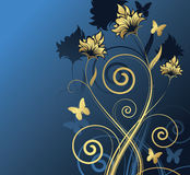 Floral design. Vector illustration Stock Photos