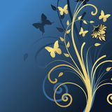 Floral design. Vector illustration Stock Photography