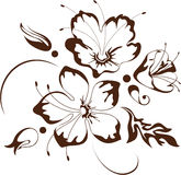 Floral design, vector illustration. Bunch of flowers stock illustration