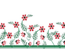Floral Design. Vector illustration of floral with leaf on a white background Royalty Free Stock Image