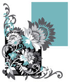Floral design vector pattern Royalty Free Stock Image