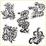 Floral Design - vector set easter symbols Stock Image