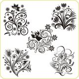 Floral Design - vector set easter symbols Royalty Free Stock Photography