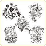 Floral Design - vector set easter symbols Royalty Free Stock Image