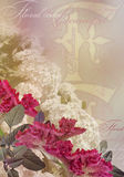 Floral design vintage  on pale background Royalty Free Stock Photo