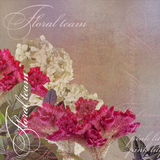 Floral design vintage  on pale background Stock Photography