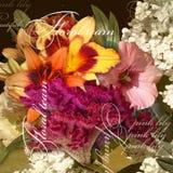 Floral design vintage  on pale  background Royalty Free Stock Image