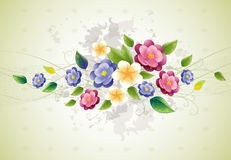 Floral design with violet Royalty Free Stock Images