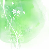 Floral design on watercolour background Royalty Free Stock Photo