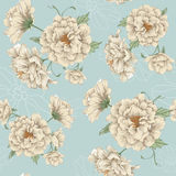 Floral design white flower. Seamless vector illustration of flowers Stock Photo