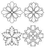 Floral design3. Hand-drawn illustration of a floral ornament Stock Images