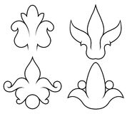 Floral design4. Hand-drawn illustration of a floral ornament Royalty Free Stock Photography