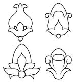 Floral design5. Hand-drawn illustration of a floral ornament Stock Photo