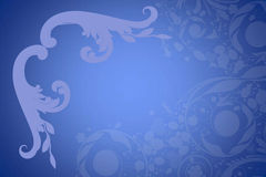 Floral designs. In blue background Royalty Free Stock Photo