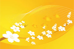 Floral designs. With yellow back ground Stock Photo