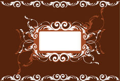 Floral designs. Frame decorated with floral designs Royalty Free Stock Photography
