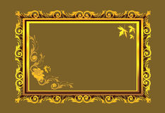 Floral designs. Frame border decorated with floral designs Stock Image