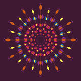 Floral tulip mandalas Royalty Free Stock Photography