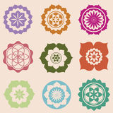 Mini mandalas designs Stock Image