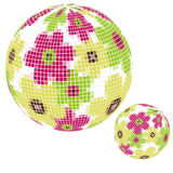 Floral disco ball Stock Photo