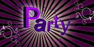 Floral Disco Party. Party Flyer Music Illustration, Speaker Royalty Free Stock Photo