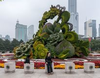Floral display for National Day in Shanghai royalty free stock photos