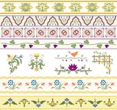 Floral Dividers, Borders, and Trim. A beautiful collection of floral type ornaments especially for use with text Royalty Free Stock Photos