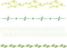 Floral dividing line vector illustration