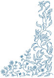 Floral doodle. Abstract floral doodle vector frame stock illustration