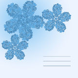 Floral doodle card. In blue color Stock Images