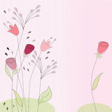 Floral doodle design Royalty Free Stock Photos