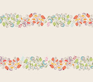 Floral doodle frame Stock Photography