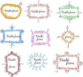 Floral doodle frames,vector Stock Photos