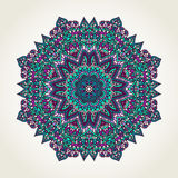 Floral doodle mandala Royalty Free Stock Images