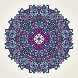 Floral doodle mandala Royalty Free Stock Photo