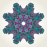 Floral doodle mandala Royalty Free Stock Photography