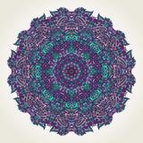Floral doodle mandala Royalty Free Stock Image