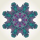 Floral doodle mandala Stock Image