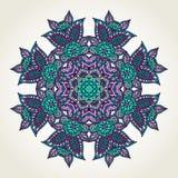 Floral doodle mandala Royalty Free Stock Photo