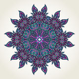 Floral doodle mandala Stock Photography
